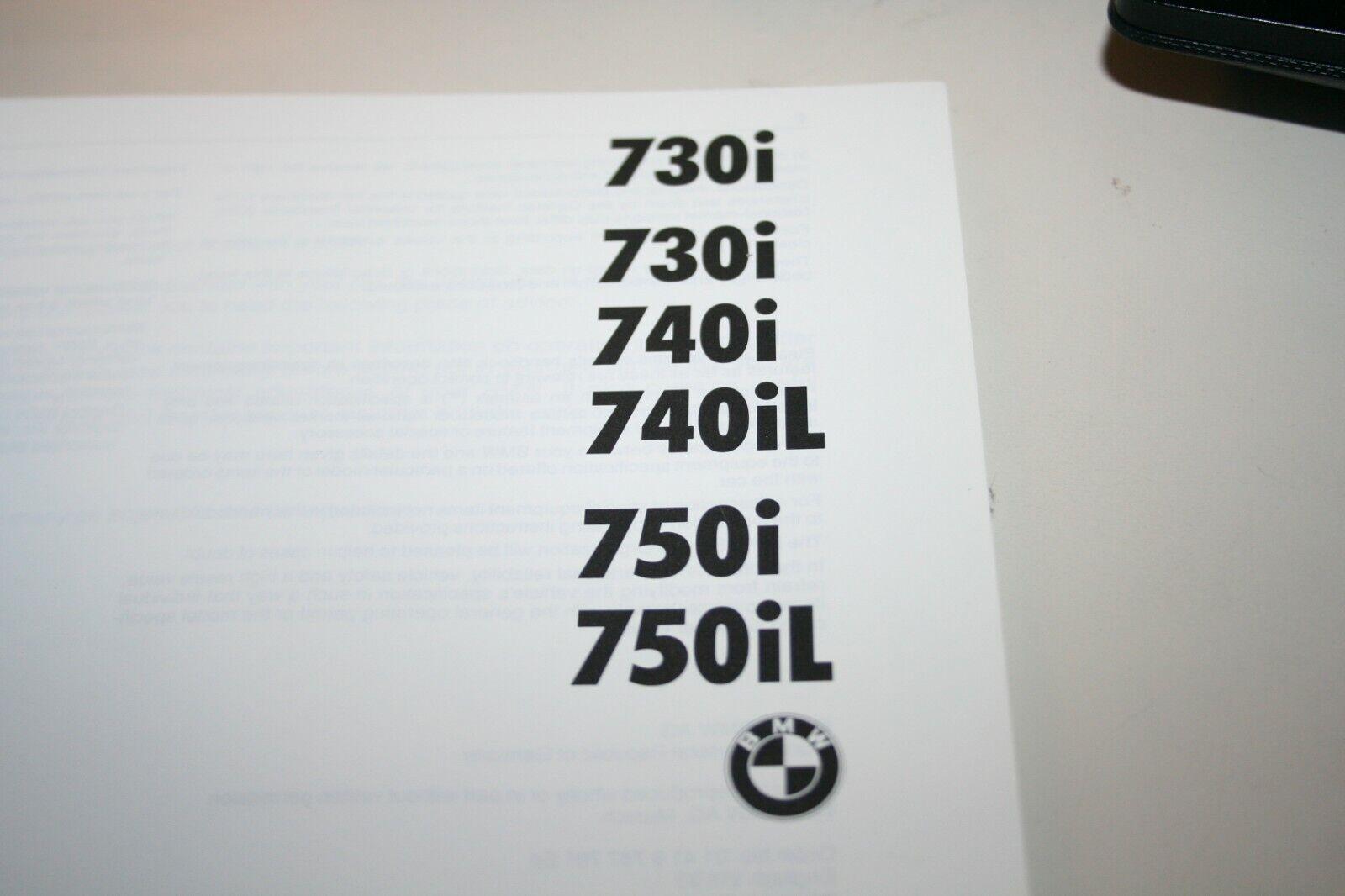 Owner's Handbook BMW 7 Series 730i 730i 730i 740i 740il 750i 750il  | Um Eine Hohe Bewunderung Gewinnen Und Ist Weit Verbreitet Trusted In-und   d673b3