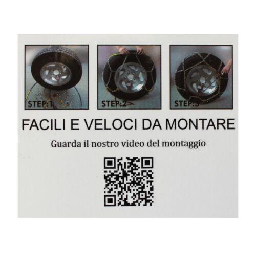 CATENE DA NEVE 16mm OMOLOGATE V5117 4x4 SUV PER PNEUMATICI 265//60-18 265//60 R18