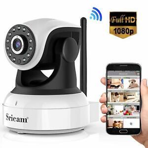 Sricam-Camera-IP-1080P-Surveillance-Wifi-Interieur-sans-Fil-Micro-Haut-Parleur
