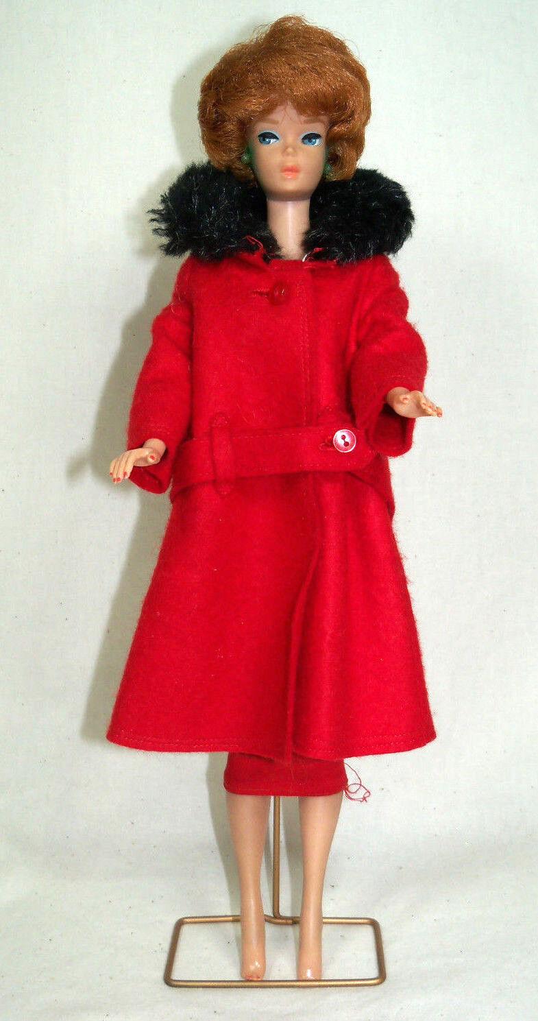Jahr Barbie Doll 1964-67 BARBIE TITIAN BUBBLECUT w  Sheath Sensation & Coat