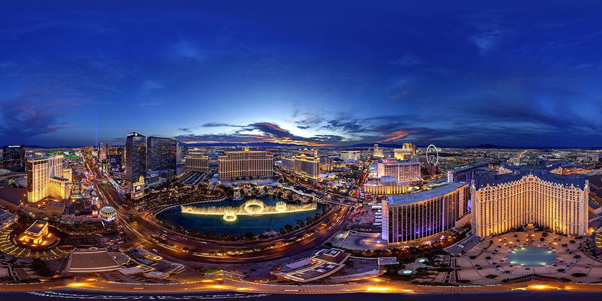 Nevada Nevada Nevada Las Vegas Strip nuit Scape Wall Art Mural Papier Peint Auto Adhésif En Vinyle | Exquise (in) De Fabrication  173125