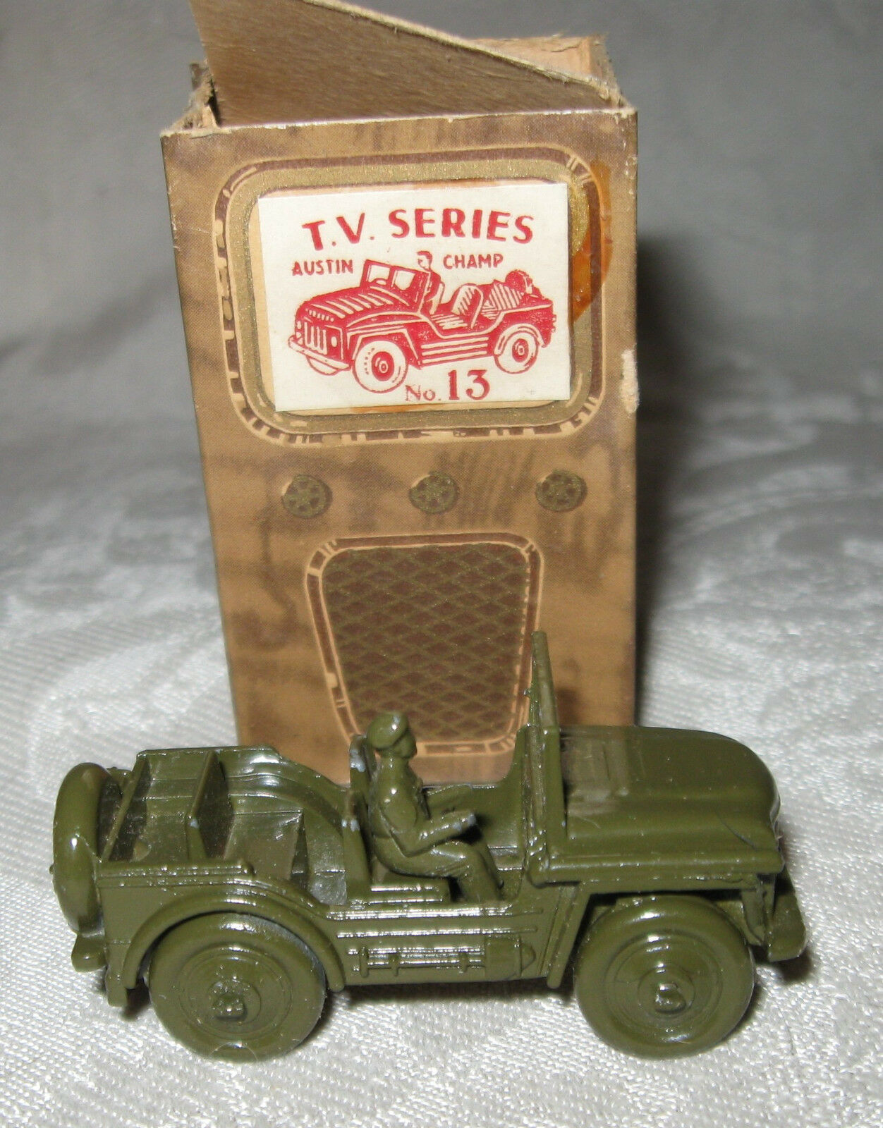 Benbros Qualitoy TV Series Austin Champ Olive Green with Box and Driver