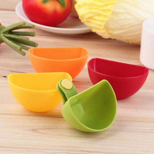 4 Colors Assorted Salad Sauce Ketchup Jam Dip Clip Cup Bowl Saucer Tableware  DS