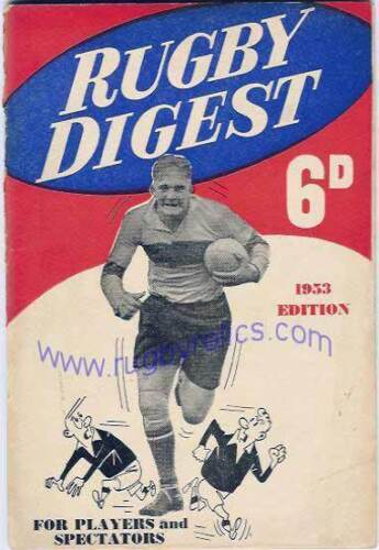 1953 Rugby Digest edited by JN Partgeter very good condition BRITISH ANNUAL