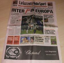 GAZZETTA DELLO SPORT 19 DICEMBRE 2007 INTER MIGLIORE IN EUROPA