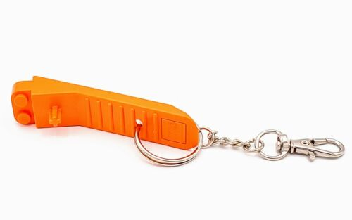 Lego Brick Separator Orange Custom Keychain