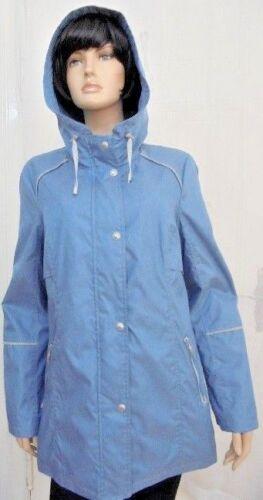 XL chaqueta señora chaqueta señora de transición capucha chaqueta chaqueta ligera azul
