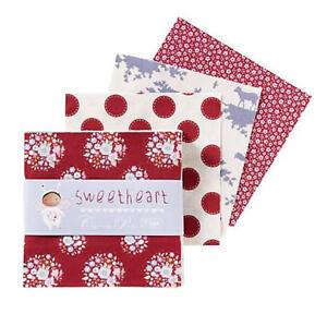 Tilda-Sweetheart-Charmpack-42-Precuts-12-5-x-12-5-cm-Patchwork-Stoffpaket
