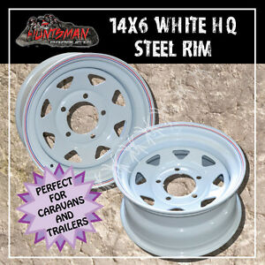 14x6-5-stud-HQ-HOLDEN-wheels-trailer-caravan-camper-POWDERCOATED