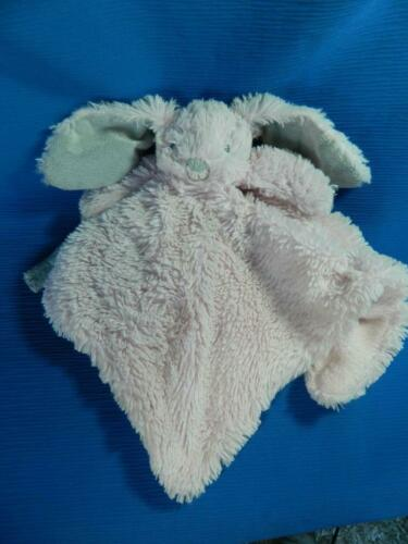 Blankets /& Beyond Pink Bunny Rabbit Gray Ears Lovey Security Blanket Paci Holder