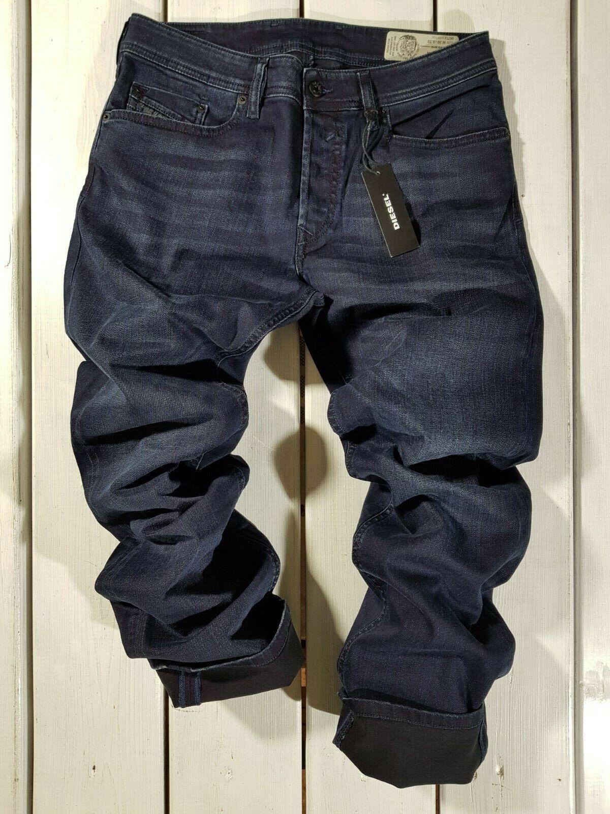 PVP 192   Nuevo Para Hombre Diesel Jeans Waykee  0677J Regular Rectos Azul lavado a la piedra  marcas en línea venta barata