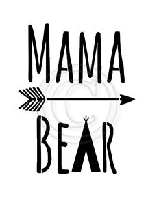 Image Is Loading Stencil Mama Bear TeePee Arrow For Sign Pillow