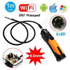 WIFI Endoscope Inspection Snake Camera 8.5mm Borescope 1M For Android IOS iPhone