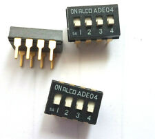 SIP Switches 4 POS SHUNT DIP switch  10pcs £3.90  part number 435704-4    HU5