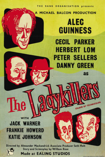 The Ladykillers Ealing Comedy advertising Vintage Poster A3 A4 Size