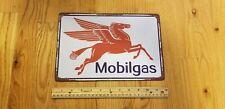Vintage Mobil Gas Station Sign Mobil Oil Retro Tin Sign Metal Oil Signs Garage