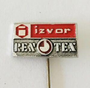 Izvor-Renotex-Brand-Yugoslavia-Small-Lapel-Pin-Badge-Rare-Vintage-J3