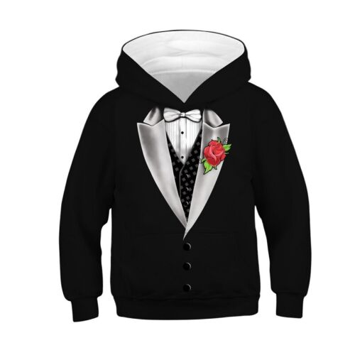 Jungen Mädchen Kinder Langarm Kapuzenpullover Hoodies Sweatshirts Pulli Kleidung