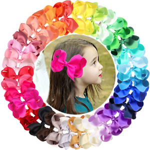 40-Colors-Set-Ribbon-4-Inches-Hair-Bows-Alligator-Clips-for-Girls-Toddlers-Teens