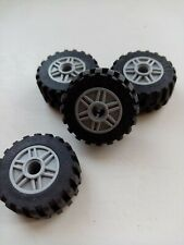 Tyres Vehicle vgc Lego x 4 Black /& Grey Technic Wheels 30.4 x 14 55982 6578
