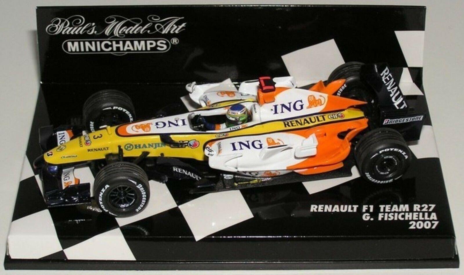 Wow extrêmeHommest rare RENAULT  R27  3 G FISICHELLA GP Monaco 2007 1 43 Minichamps  Dans votre attente