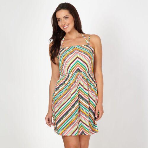 Gorgeous Dd Womens Green Shirred Tribal Printed Strap Dress-Debenhams-Sz 12 NEW