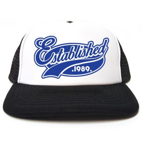 Birthday Funny Retro Trucker Cap Established 1989 Hat Christmas Gift Idea