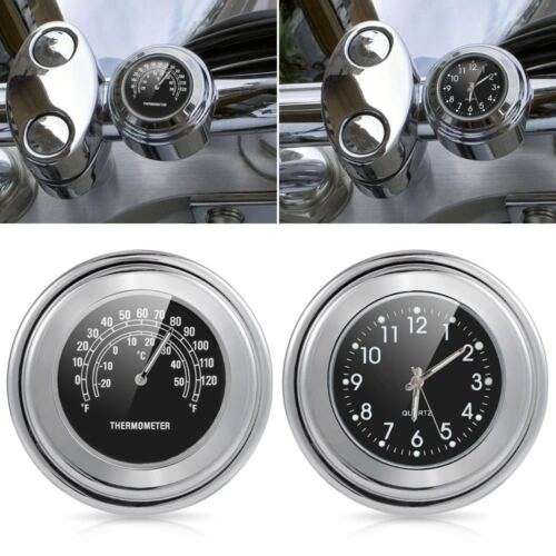 "7//8/"" 1/"" Handlebar Clock Thermometer Fit Honda Shadow Spirit Aero Ace VT 750 1100"
