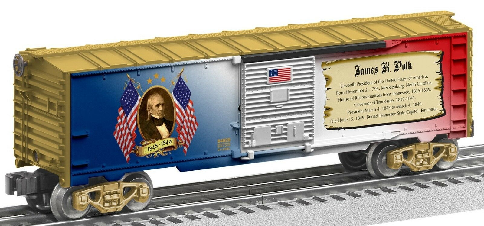 Lionel james k. polk made in usa waggons   6-84929