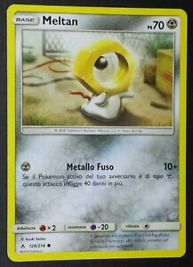 MELTAN  128//214 Carta in Italiano POKEMON SOLE LUNA Legami Inossidabili