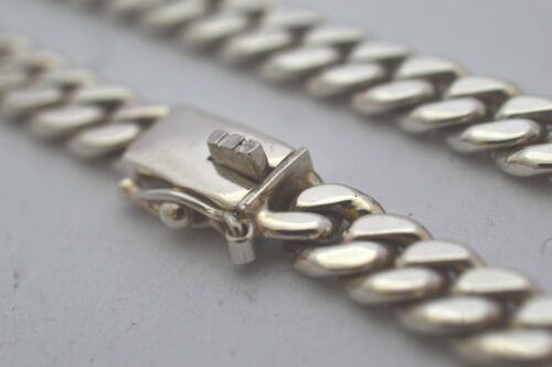 """50cm 925 Sterling Silver Curb Chain Necklace 51g 20/"""""""