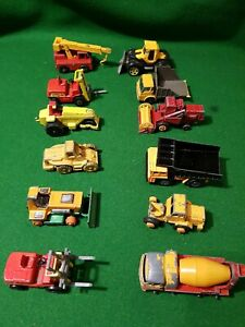 11-x-Matchbox-Lesney-transporter-lorry-Crane-truck-job-lot-vintage