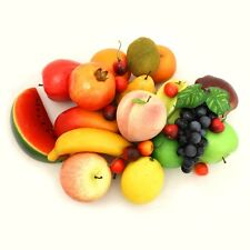 ALEKO Artificial Lifelike Plastic Home Decor Fake Fruits Lot of 32