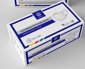 150 Stück Mundschutz Medizinische Masken Mund Nasen Schutzmaske 3 Lagig Maske
