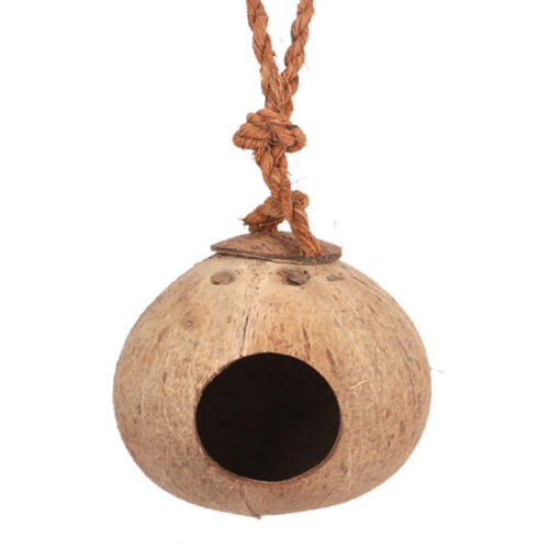 BB House Toy Hut Coconut Shell Breeding Cage Natural Nest Parrot Pet Long Tail