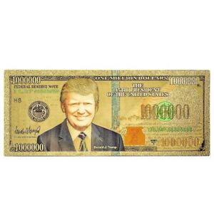 NOT Postcard President Donald Trump Million Dollar Novelty Bill Money Christmas