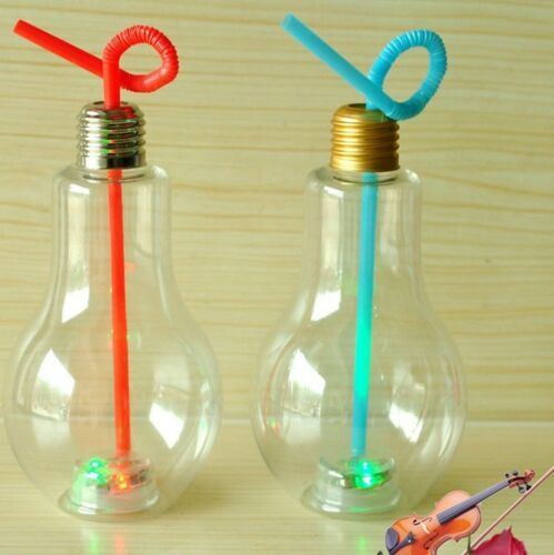 Creative Bulb Bottle Juice Water Cup Pub Whisky Cocktail Clear Glass 200-400ML
