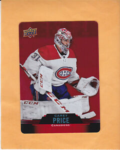 2020-21-TIM-HORTONS-CAREY-PRICE-RED-DIE-CUTS-DC-18-MONTREAL-CANADIENS