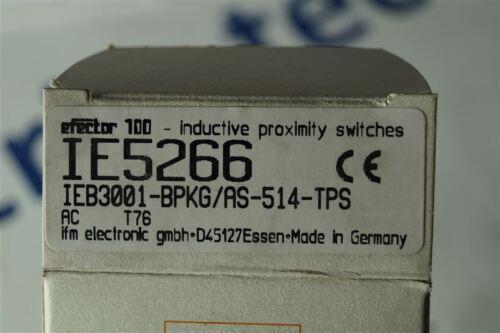 IFM Electronic efector ieb3001-bpkg//as-514-tps sensor inductiva ie5266