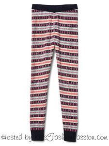 ce40e8932d774 GAP Kids Girls Fair Isle Sweater Leggings Knit Pants 10 L NWT $40 | eBay