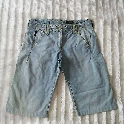 Affidabile Shorts Armani Jeans Tg 44 Colore Blu Chiaro 4 Tasche Pantaloni Pantalone Jeans