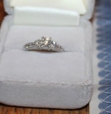 Costco Platinum Diamond Wedding Engagement Ring GORGEOUS  eBay