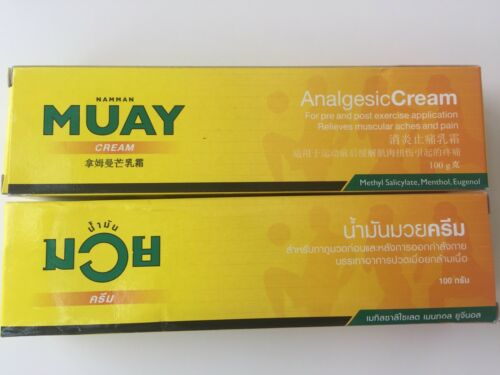 AWAY ON HOLIDAY UNTIL 30 of AUGUST New 2x 100g Namman Muay//Thai Boxing Cream