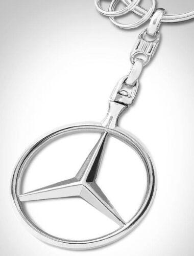 Genuine Mercedes-Benz Stylish Stunning Silver Star Emblem Keyring B66957516