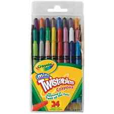 Crayola Twistables CRAYONS 24 PACK Mini Twistable Crayons No Sharpening Required