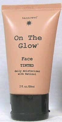 TANTOWEL ON THE GLOW Face Tinted Moisturizer Retinol DHA & Erythrulose 2 oz. B-7