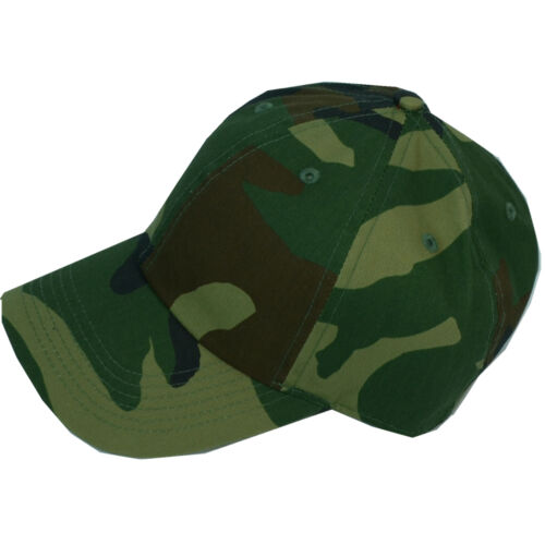 Plain Camo Washed Cotton Polo Style Baseball Ball Cap Caps Hat Adjustable Back