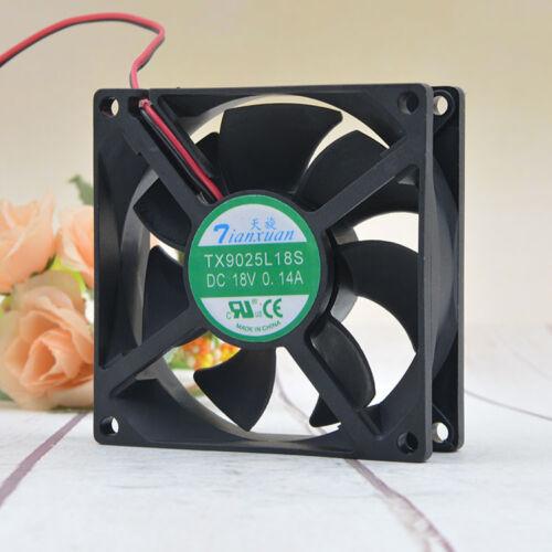 TX9025L18S DC 18V 0.14A 90*90*25MM 2Pin Cooling Fan