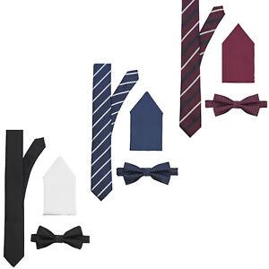 JACK & JONES Krawatten Geschenkbox Herren Fliege Einstecktuch Formell Elegant