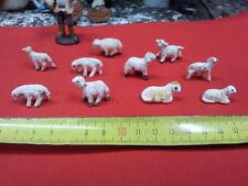 3 pecore TERRACOTTA x pastori 7-8 cm nativity animali  shepherds crib sheep